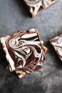 Peppermint Cheesecake Swirl Brownies   Creme De La Crumb