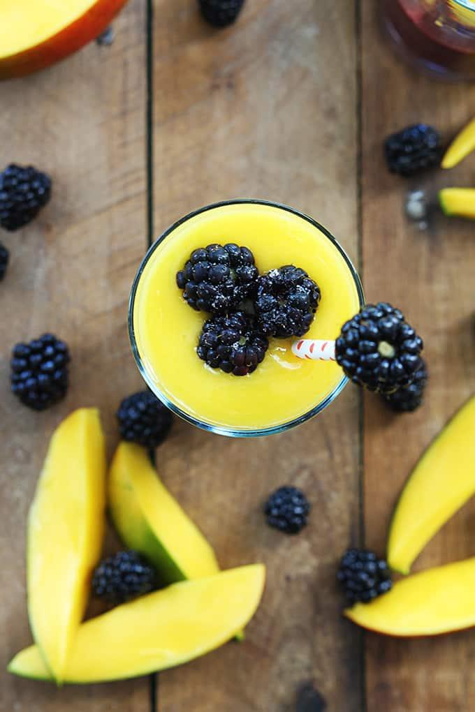 Mango Blackberry Smoothie