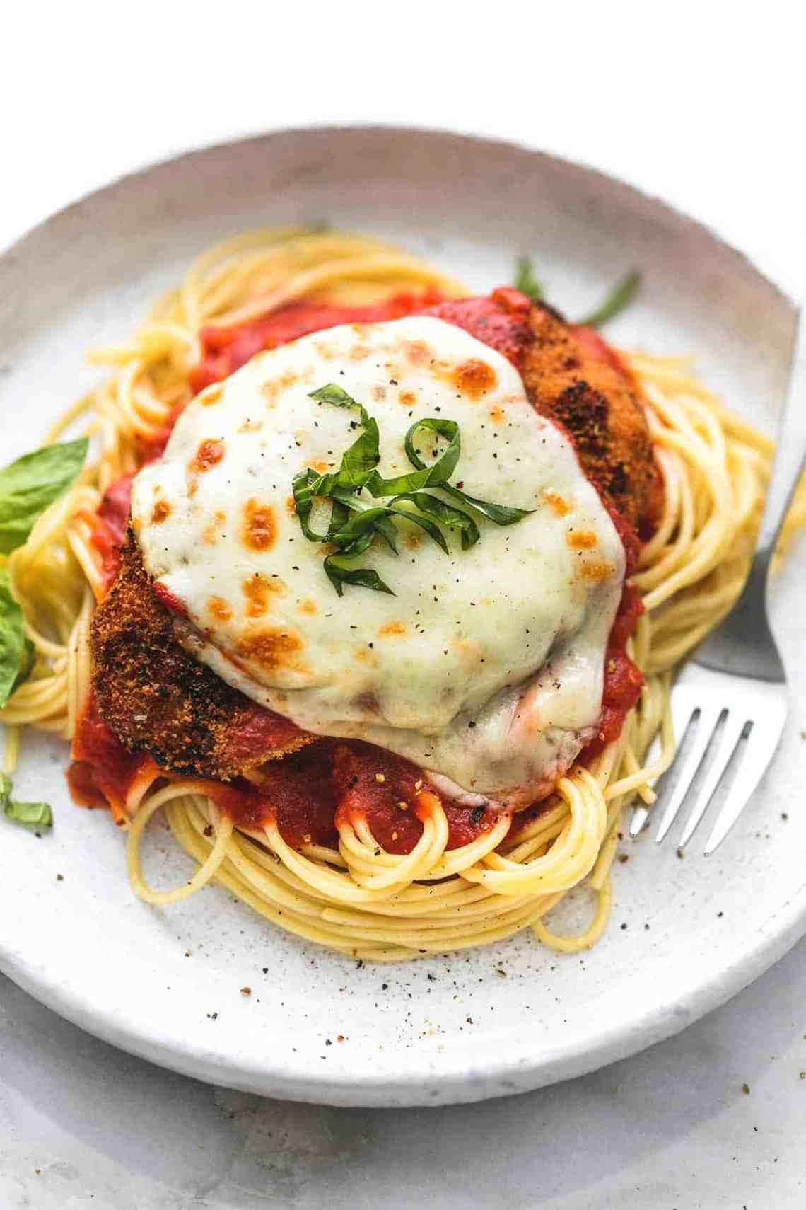 Healthy Baked Chicken Parmesan | Creme De La Crumb