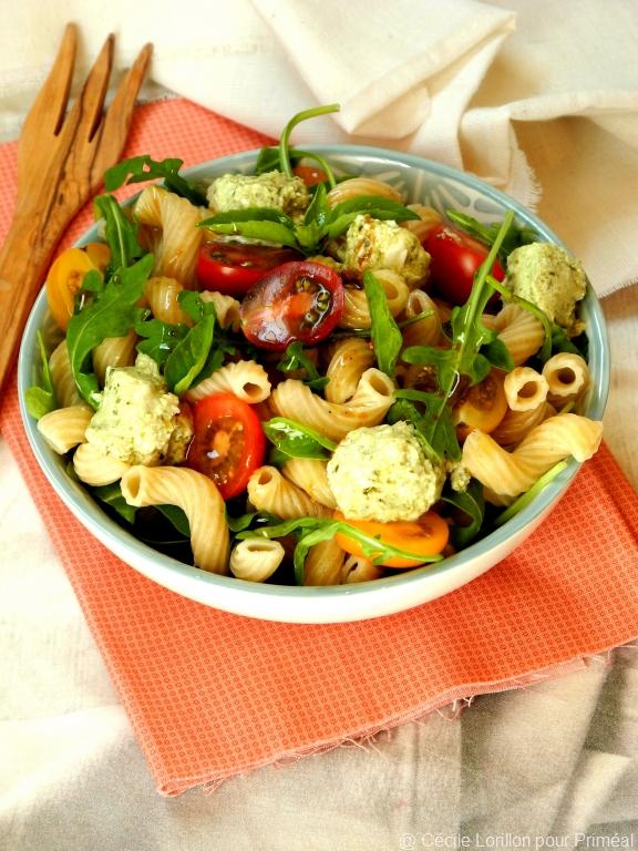 Salade De Ptes Codini Fromage De Chvre Au Pesto Et