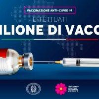 RAGGIUNTA LA QUOTA UN MILIONE DI PERSONE VACCINATE IN ITALIA