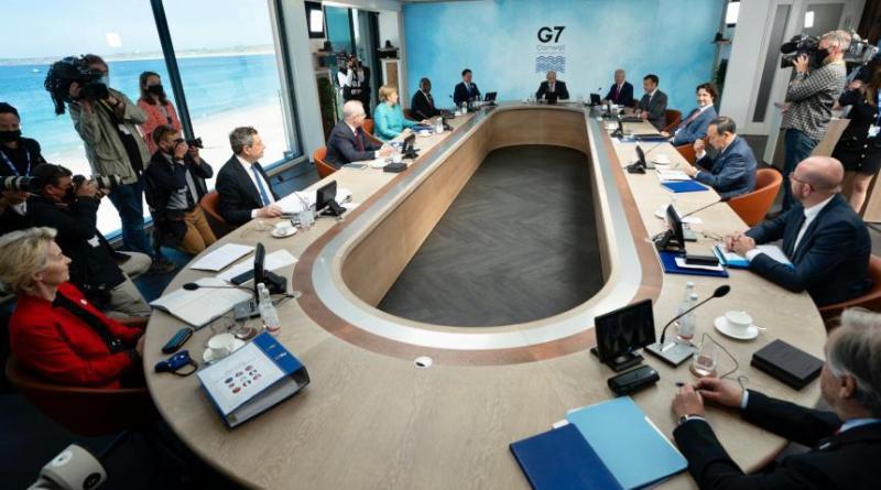 MARIO DRAGHI alla 3ª giornata Vertice G7 di Carbis Bay