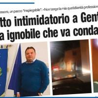 RUOTI, ATTO INTIMIDATORIO A GENTILESCA «BRAVATA IGNOBILE CHE VA CONDANNATA»