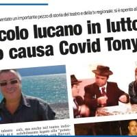 SPETTACOLO LUCANO IN LUTTO: SI È SPENTO CAUSA COVID TONY LORA
