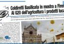 COLDIRETTI BASILICATA IN MOSTRA A FIRENZE AL G20 DELL'AGRICOLTURA I PRODOTTI LUCANI