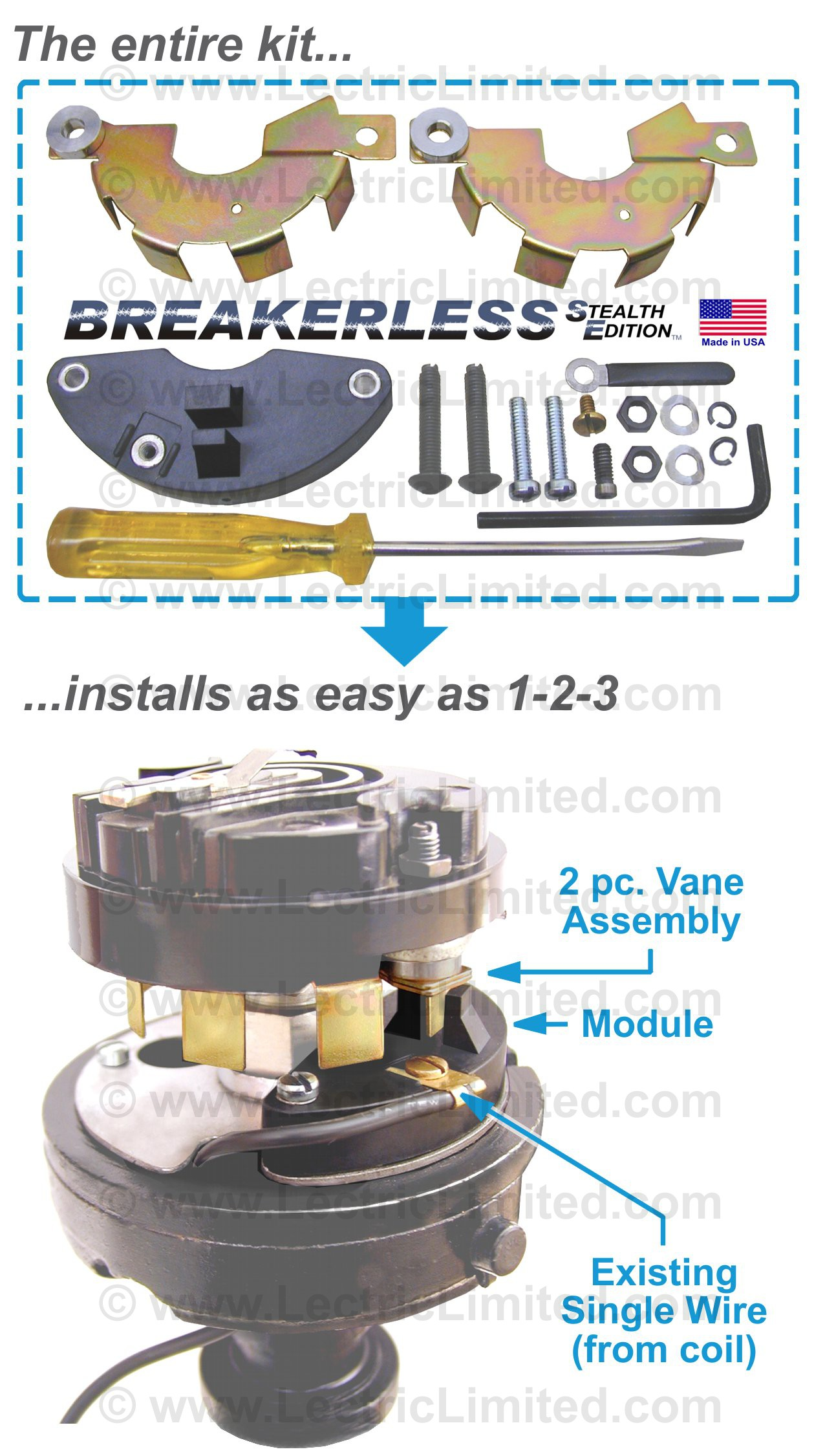 hight resolution of breakerless se electronic ignition conversion