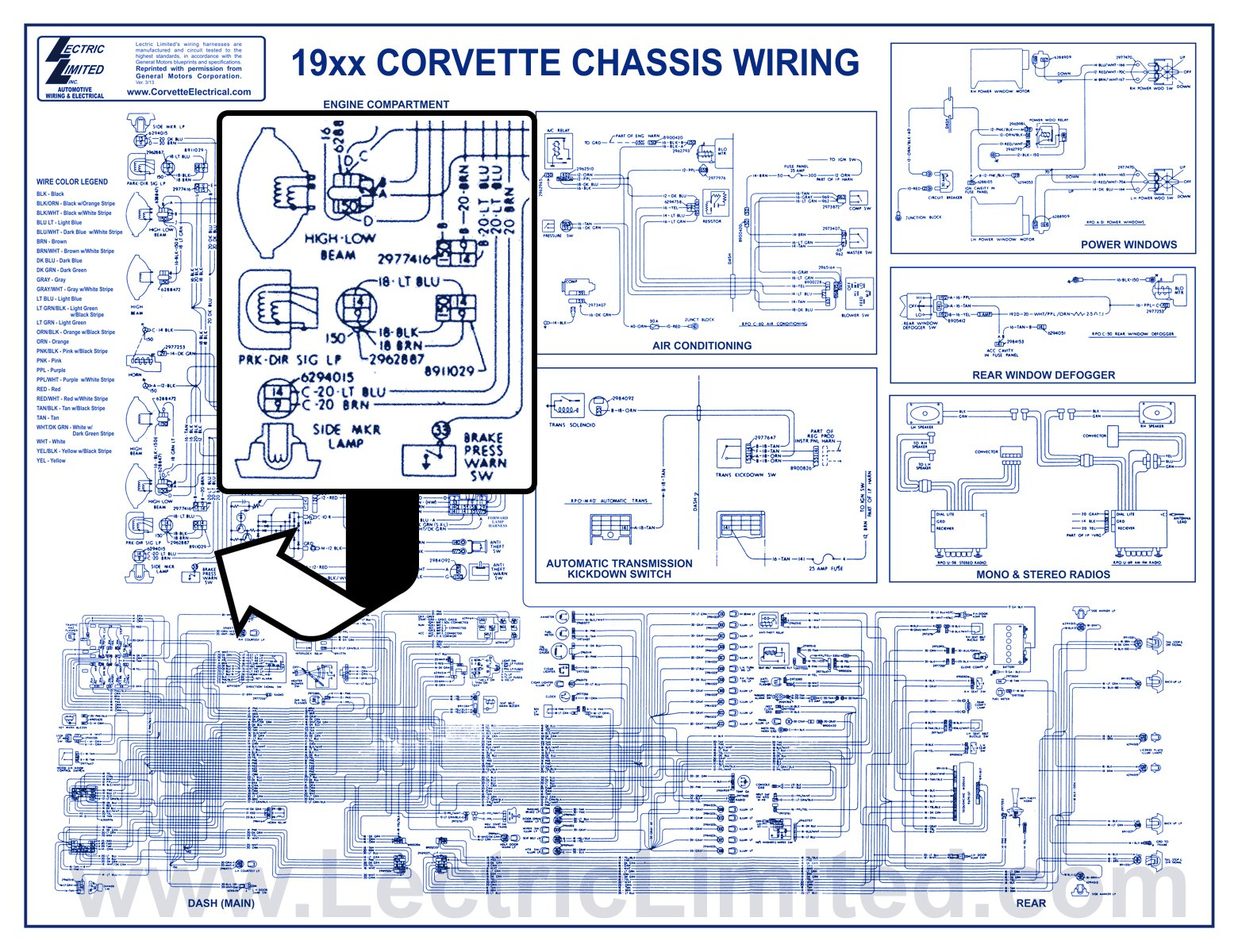 hight resolution of 1953 82 corvette and 1967 72 camaro laminated wiring diagrams