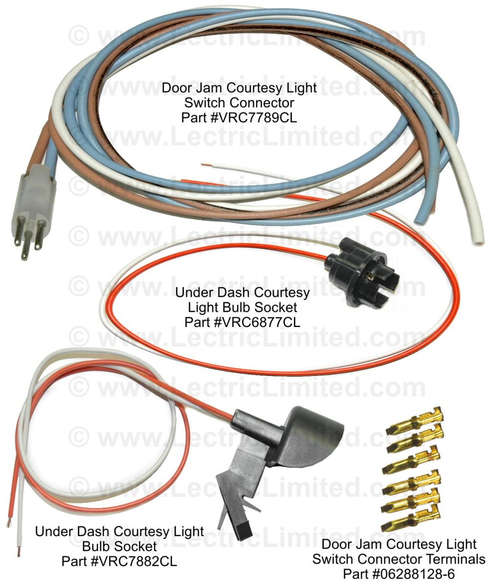 medium resolution of courtesy light repair components