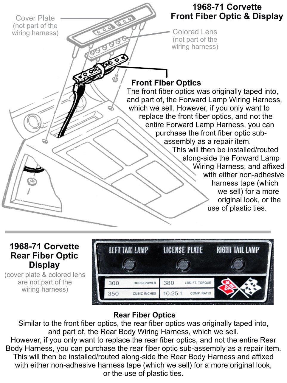 hight resolution of fiber optic repair components 1968 71 corvette