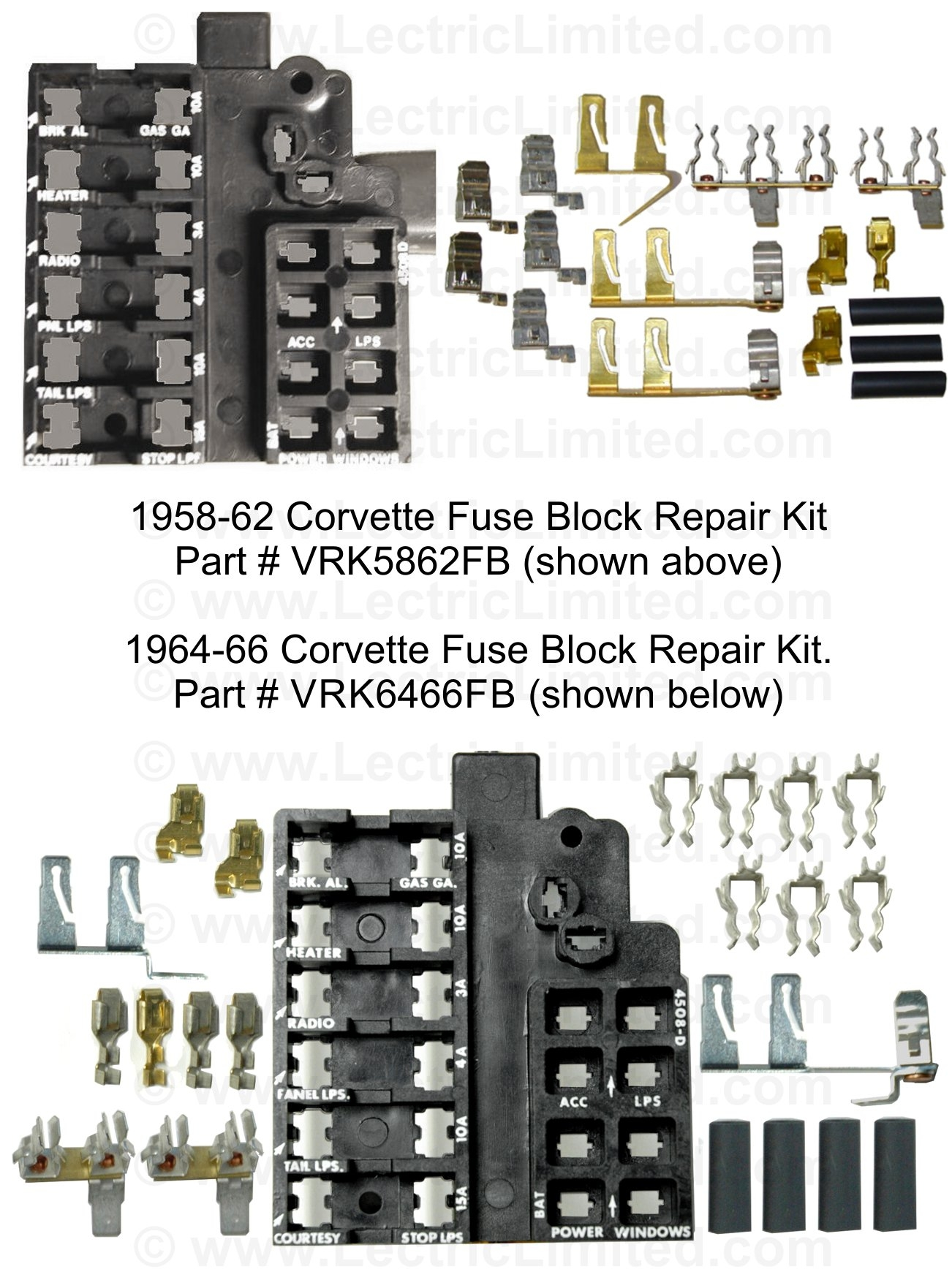 hight resolution of repair components 1998 vw jetta fuse box diagram fuse block repair kit