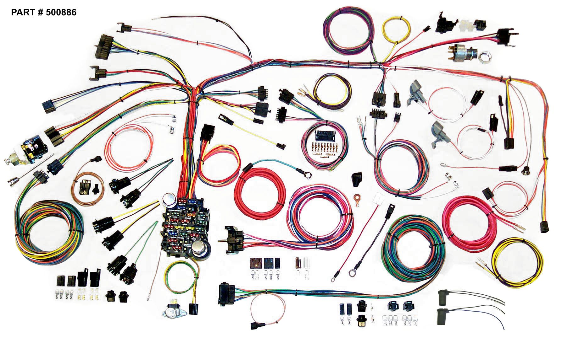 hight resolution of 1967 68 firebird restomod wiring harness system
