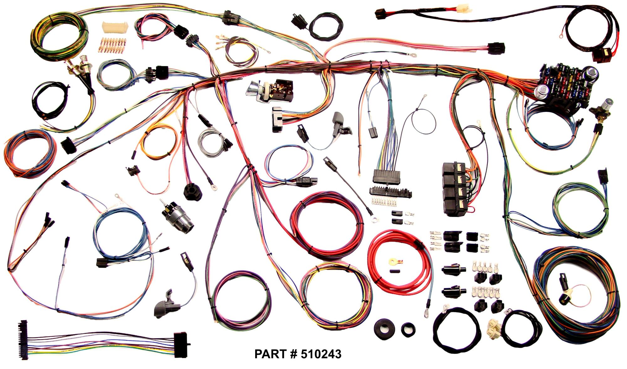 hight resolution of 1970 mustang restomod wiring harness system