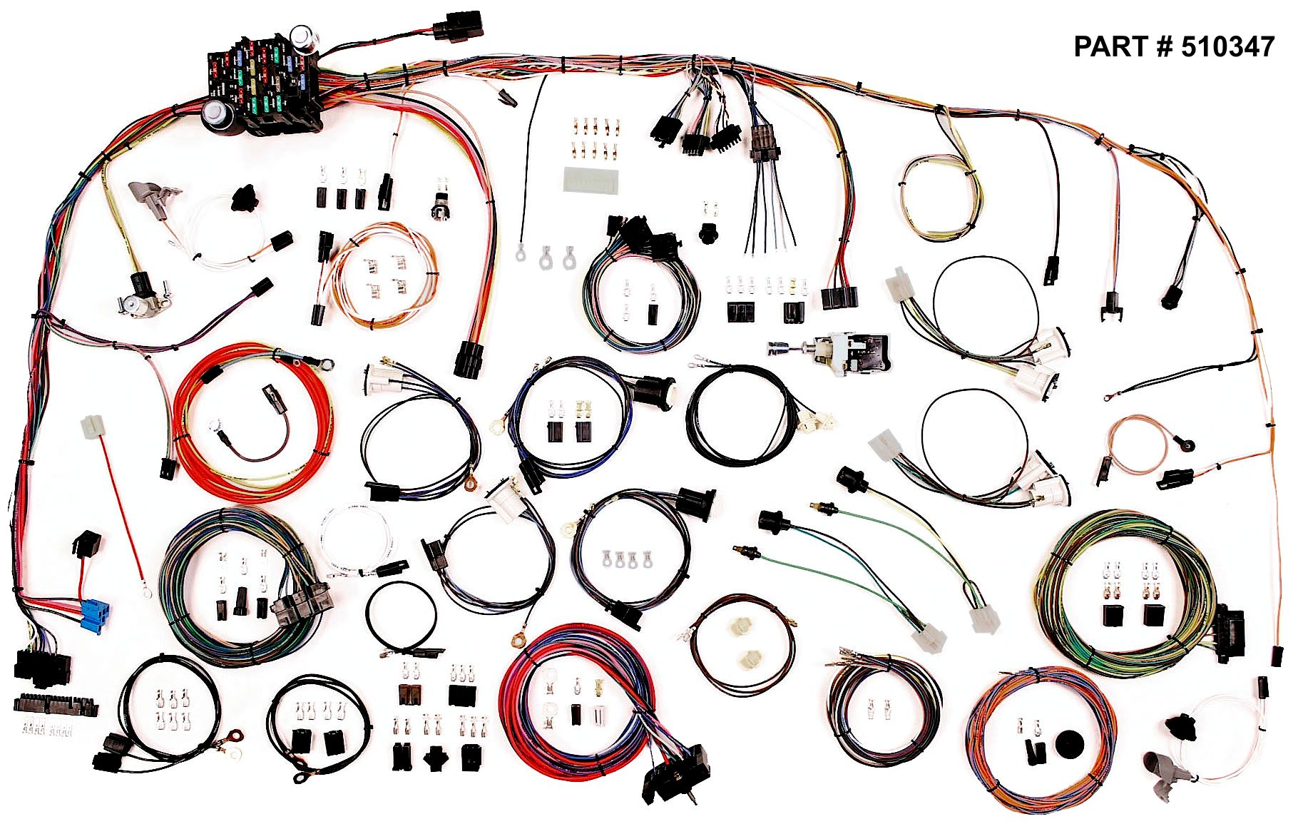 hight resolution of 1973 82 chevrolet gmc truck classic update series wiring system part 510347