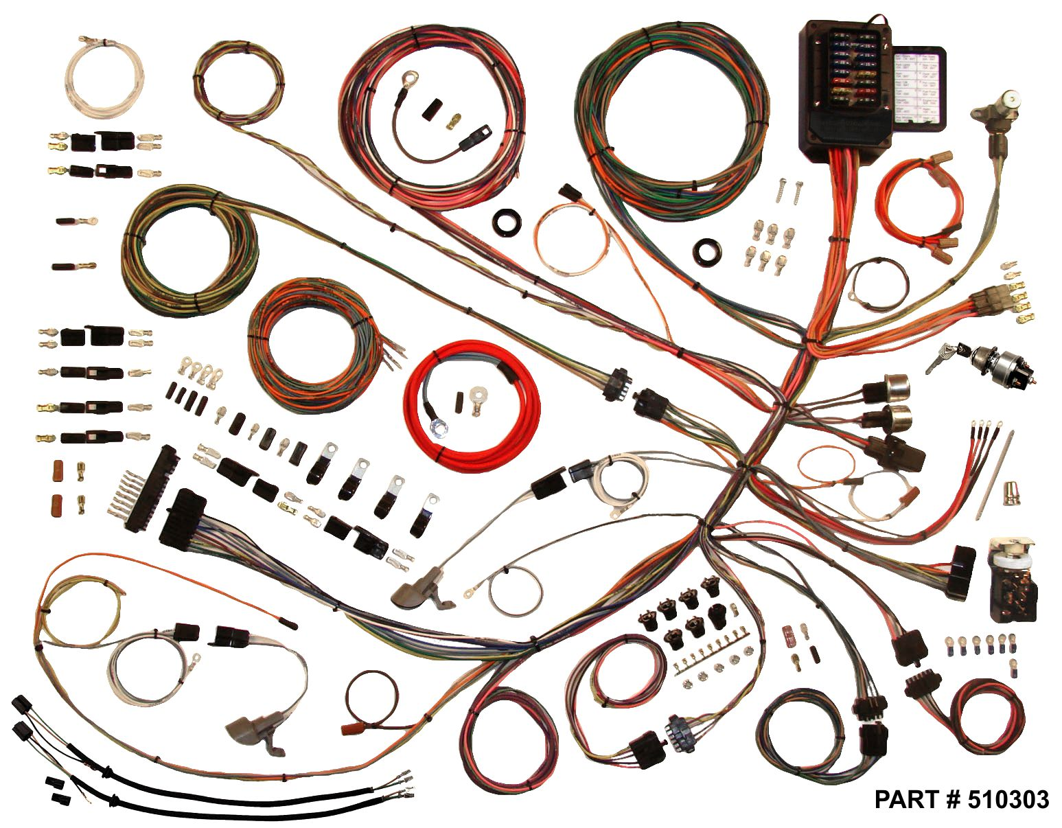 hight resolution of 1953 1956 ford f100 trucks restomod wiring system 1956 ford truck wiring harness 1953 56 ford