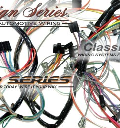 exact oem reproduction wiring harnesses and restomod wiring systems 1965 corvette new repro dash ip wiring harness w bu lamps usa made [ 1875 x 709 Pixel ]