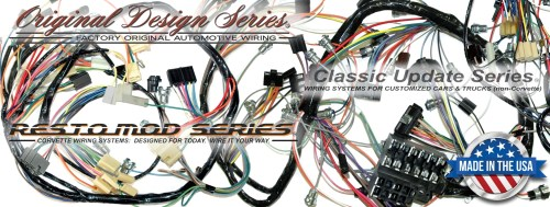 small resolution of exact oem reproduction wiring harnesses and restomod wiring systems 1979 corvette with power windows wiring harness dash 1979 corvette wiring harness