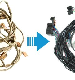 exact oem reproduction wiring harnesses for classic muscle cars 1948 cadillac wiring harness [ 1762 x 646 Pixel ]