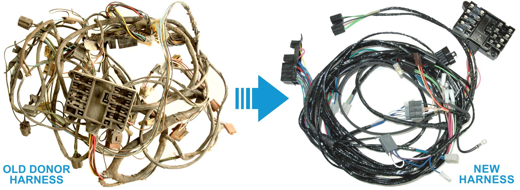 hight resolution of exact oem reproduction wiring harnesses for classic muscle cars 1948 cadillac wiring harness