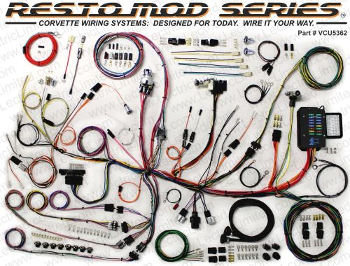 small resolution of 1953 1962 chevrolet corvette restomod series wiring system 1980 corvette wiring harness 1953 62 corvette restomod