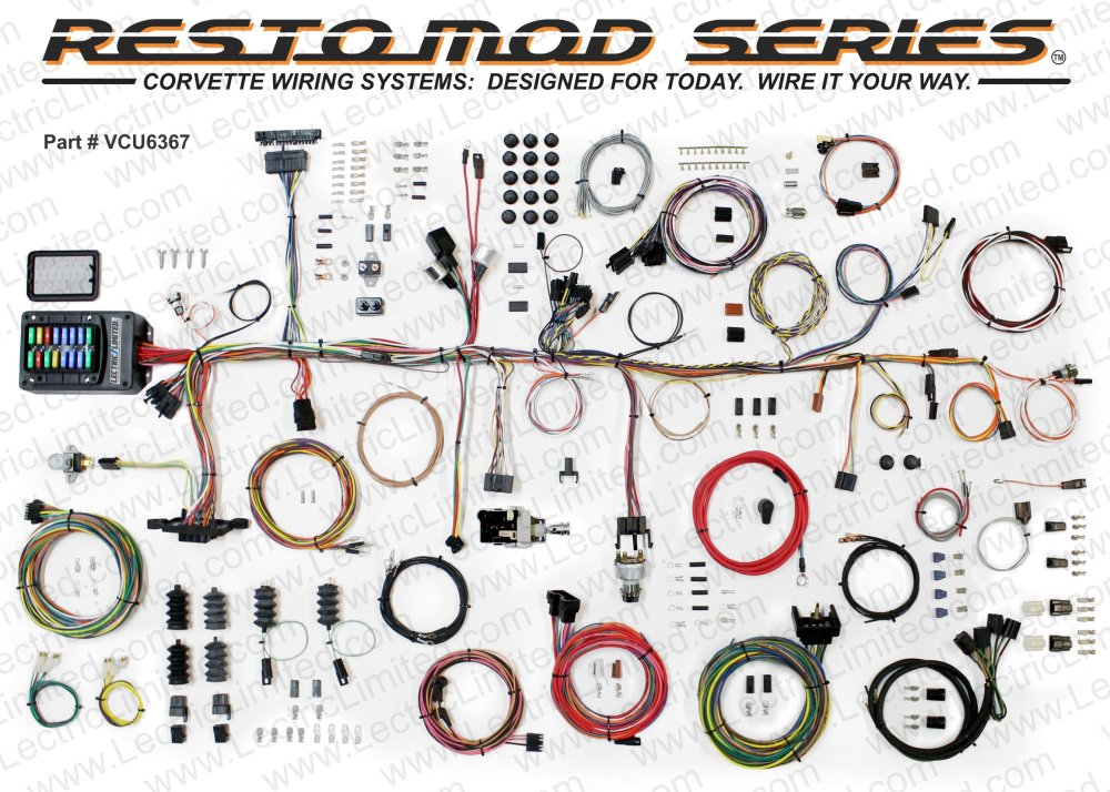 medium resolution of 1963 67 corvette restomod series wiring harness system
