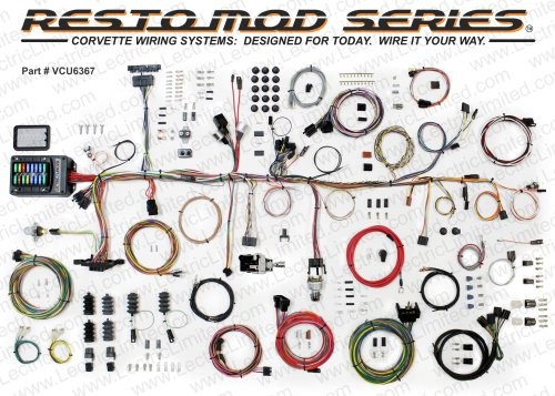small resolution of 1963 67 corvette restomod series wiring harness system