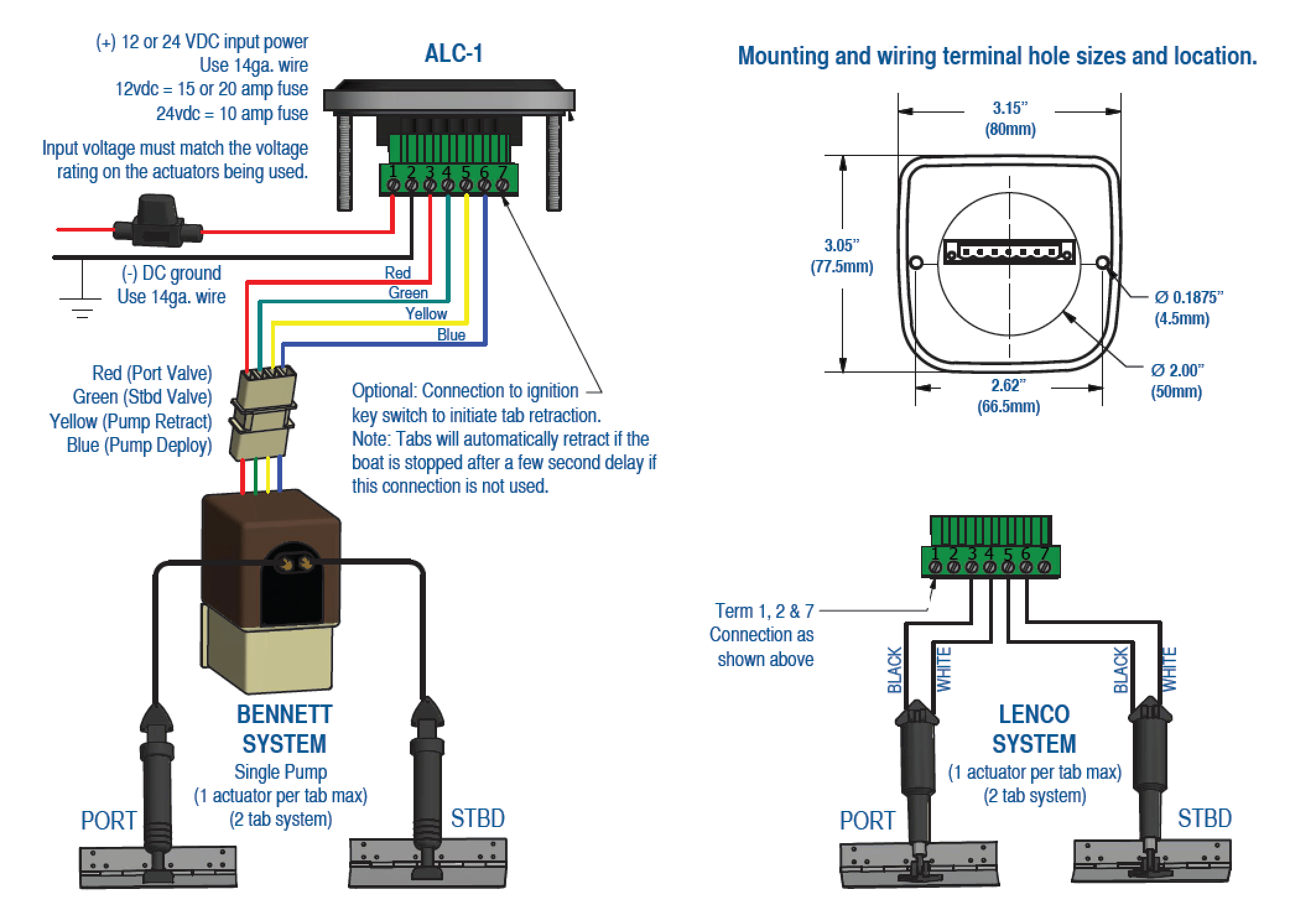 bennett trim tab pump start stop jog wiring diagram automatic level control for lenco and products