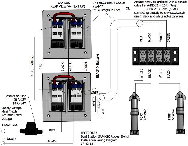 wiring diagram  flat rocker switch safs safns sfs
