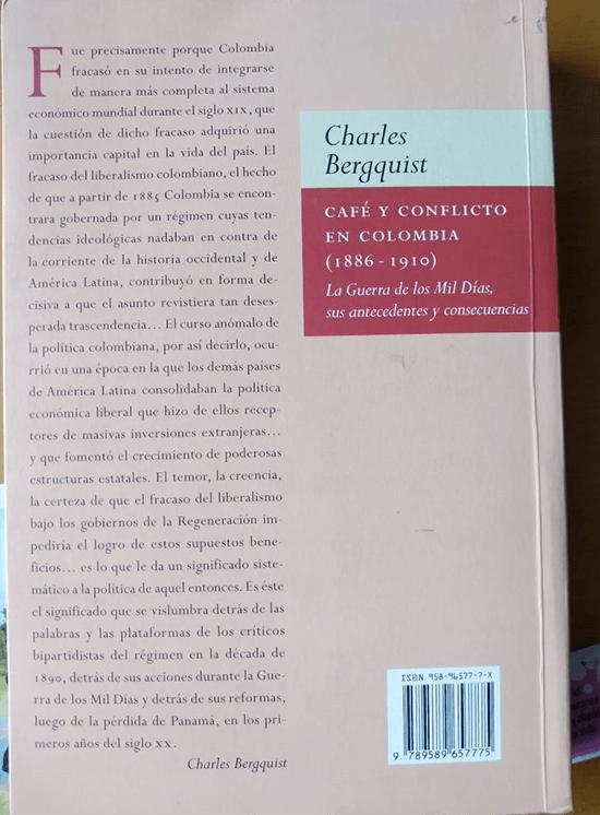 contracubierta libro Café y Conflicto