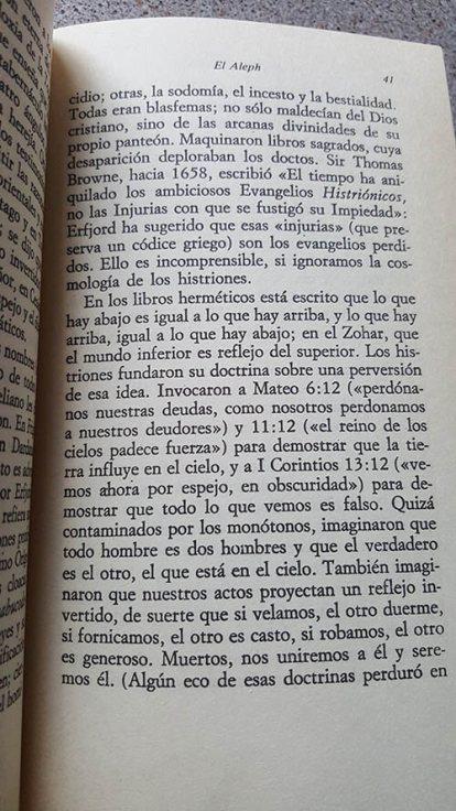 Página interior de El Aleph de Borges