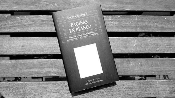 Libro Páginas en Blanco de Nicanor Parra