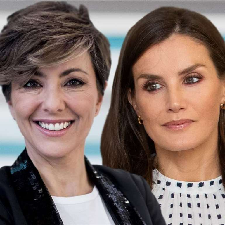 Sonsoles Ónega's tell-tale gesture at the good news of her friend, Queen Letizia