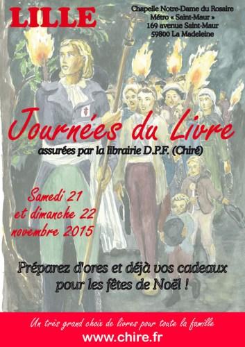 Journées du Livre 2015 de Chiré à Lille