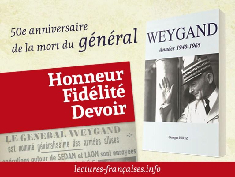 50e anniversaire de la mort du général Weygand