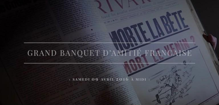 Grand banquet d'amitié française Rivarol-Ecrits de Paris