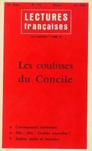 Les coulisses du Concile