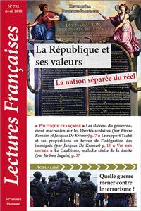 Éditorial, avril 2018 : La République et ses valeurs : la nation séparée du réel