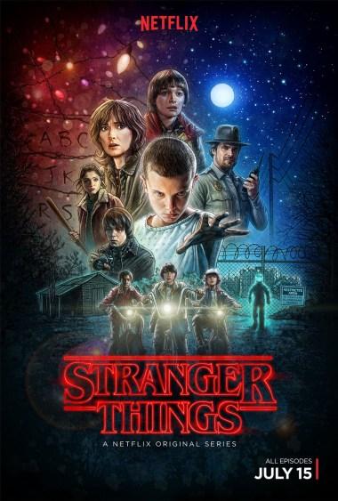 Stranger Things Le poster réalisé par l'illustrateur Kyle Lambert