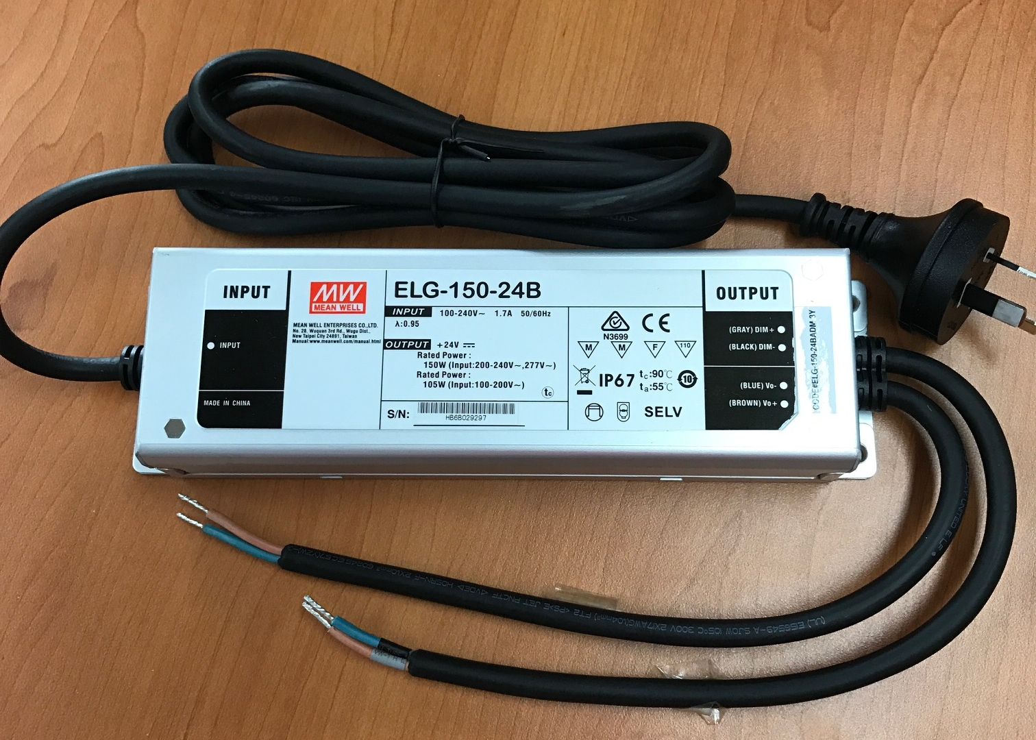 hight resolution of mean well elg series led driver dimming wires