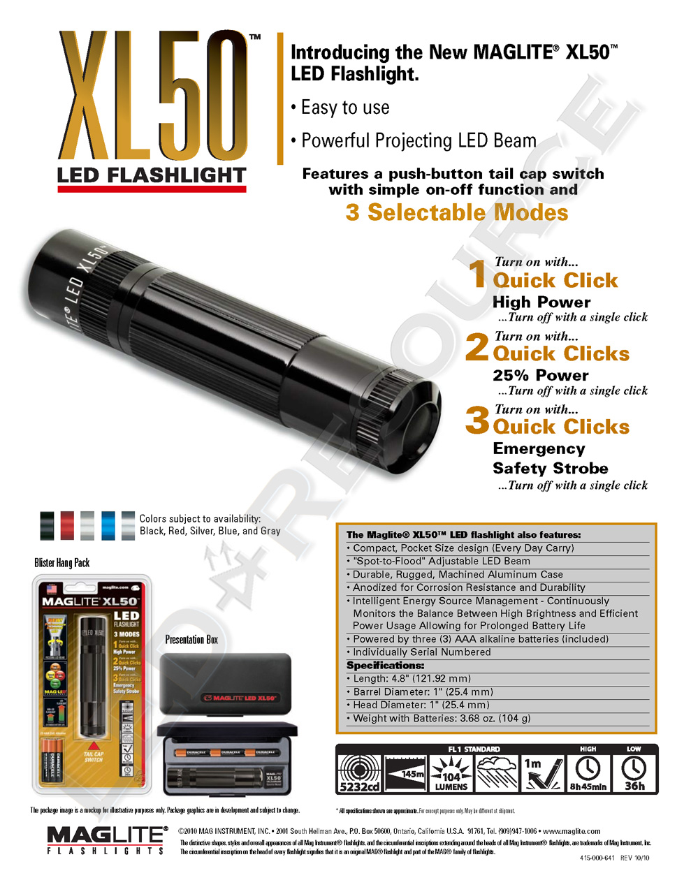 hight resolution of download the maglite xl50 flyer