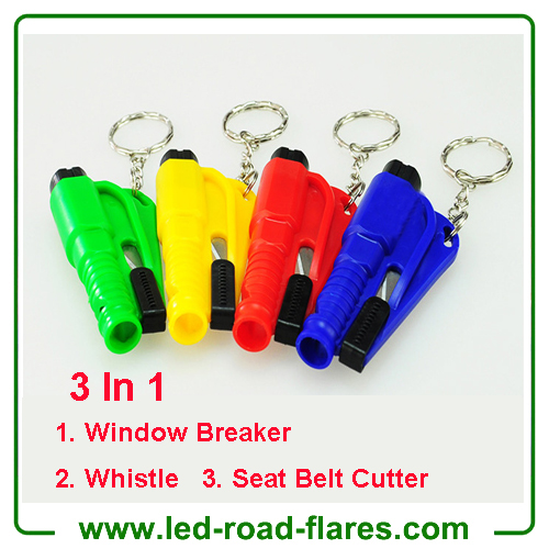 3 in 1 Mini Emergency Safety Hammer Auto Car Window Glass Breaker Cutter Rescue Life-Saving Escape Tool