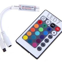 Ασύρματος (IR) Mini LED Controller RGB 72 Watt 12 Volt