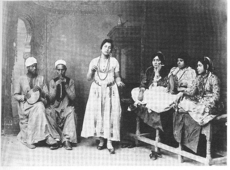 Cartolina di ghawazi - inizio '900