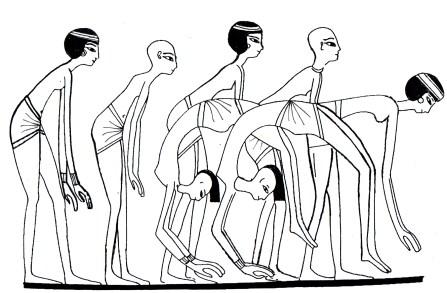 Danzatrici acrobatiche riprodotte in una sequenza - Tomba anonima