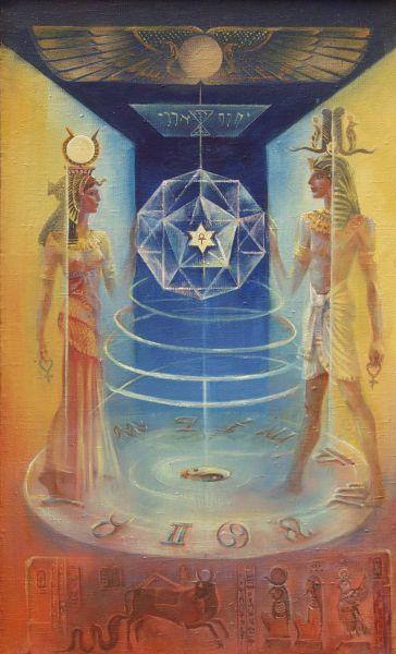 La divina coppia di Iside e Osiride