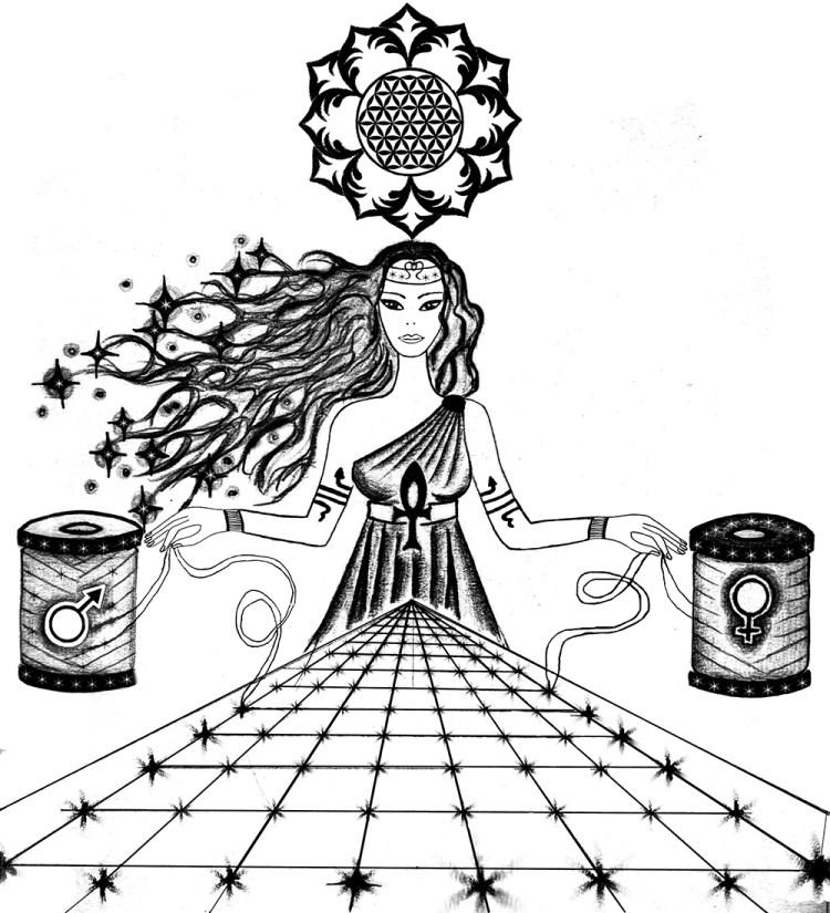Neith, la Grande Madre Vergine tessitrice dell'Universo