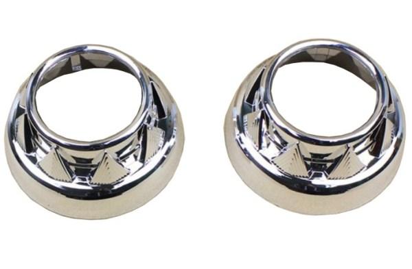 """Set 2 ornamente pentru Lupe Bixenon Z103 Compatibile cu toate lupele Morimoto de 2.5"""" si 3"""". Pentru lupe de 2.5"""" sunt necesare si un set de inele adaptoare."""