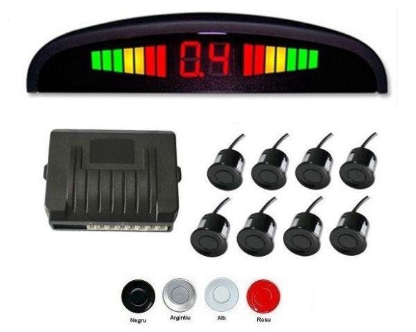 Senzori parcare fata spate cu 8 senzori si display LED S308