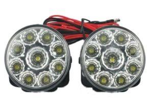 Lumini de zi auto rotunde 9 led*0,5W 12V