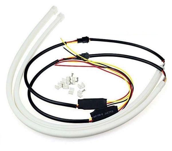 Lumini de zi cu semnalizare tip Tub Neon Flexibil 45 cm