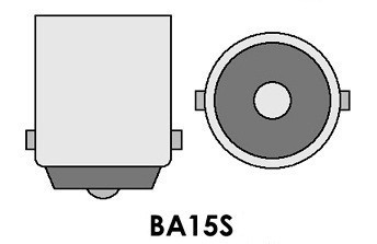 Led auto Alb BA15S High Power cu pini simetrici la 180 grade / exterior, led pozitie, semnalizare, marsarier, stopuri / frana…